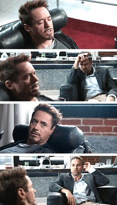 """""""Were you just...actively napping??"""" Iron Man 3"""