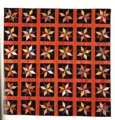 Silk 8-poimt Star, 1860-1880, silk satin, Shelburne Museum