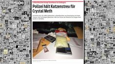 Crystal Meth VS. Katzenstreu Crystal Meth, Houston, Polaroid Film, Crystals, Autos, Dehumidifiers, Police, Psychics, Cats