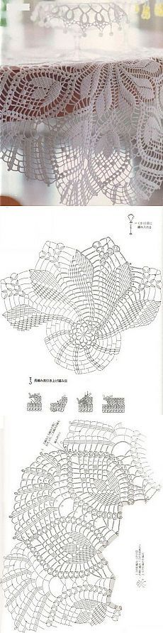 "Белоснежная салфетка с узором ""Тюльпаны"" Irish Crochet Patterns, Crochet Doily Diagram, Crochet Mandala, Filet Crochet, Crochet Motif, Crochet Designs, Crochet Doilies, Crochet Books, Crochet Art"