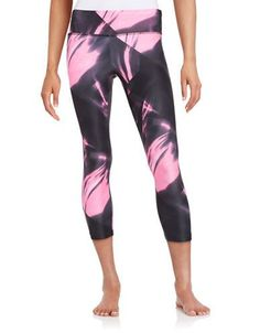 Jockey Patterned Capri Leggings Women's Knockout Pink X-Large