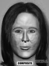 "White female 14 – 18 years of age. 5'4""-5'8"". These skeletal remains were found 1-2-86 in wooded ravine near Mountain View Cemetery in Auburn, close to remains of Bones #16 and another identified Green River victim. The victim was found during an evidence search around bones #16. Death probably occurred in the Spring or Summer of 1983. Dental records are available and a DNA profile has been developed by the University of North Texas and placed into CODIS. A new facial reconstruction was done…"