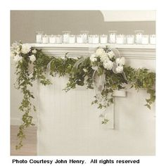 decorating with flower garland   Decorative Garland - Decorate for Weddings