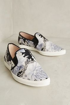 All Black Bold Flower Sneakers - anthropologie.com #anthrofave