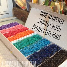Rainbow looms Need a cheap storage container for all those rubber
