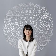 "Honored to create this silvery, zen illustration behind Marie Kondo, the Japanese organizing guru, for the @WSJ this week. Pick up her best-selling book, ""The Life-Changing Magic of Tidying Up"" today! Photo by Jeremie Souteyrat. #konmari #konmarimethod"