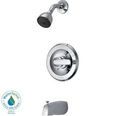 Delta Classic Single-Handle 1-Spray Tub and Shower Faucet in Chrome-134900 - The Home Depot
