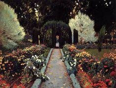 Santiago Rusiñol i Prats (Catalan,1861-1931), A Garden in Aranjuez, 1908, oil on canvas, 140 x 135 cm, Museo del Prado, Madrid.