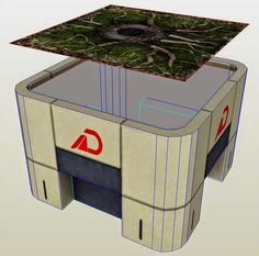 Papermau: Mass Effect - Bunker Paper Model For Dioramas, RPG And Wargames by Rheia2