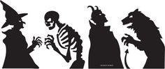 Holidays  UPPERCASE LIVING CATALOG > Halloween - GRANDE HALLOWEEN SILHOUETTES!