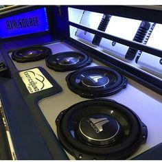 One Loud Page car audio custom install trunk amp rack unique enclosure plexiglass logo fiberglass plexi acrylic jl audio