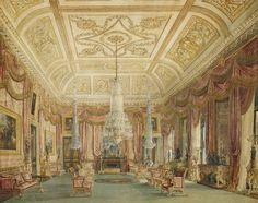 The Royal Collection: Carlton House,  Crimson Drawing Room.