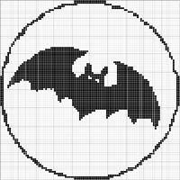 Angels Crochet - Bat 1 Chart...on stick