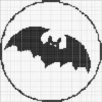 Angels Crochet - Bat 1 Chart...on stick