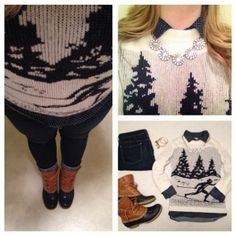 #LLBean Boots + ski sweater = style