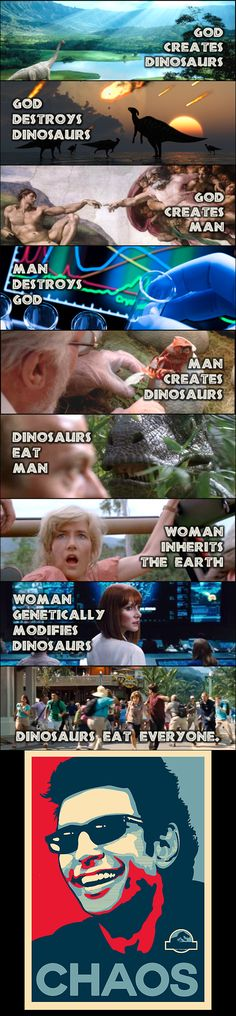 The Summation of The Jurassic Park Series in a Comic (Favorite Meme Faces)