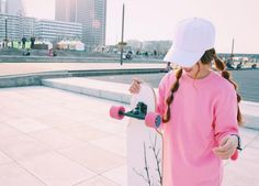 #Longboard riding - #Korean cool girls' new favorite #sport to stay fit