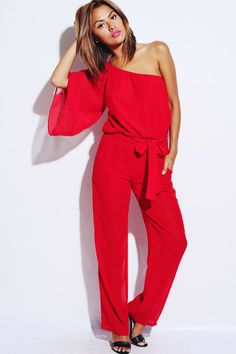 Nasty Gal On the Hunt Plunging Jumpsuit - Rompers   Jumpsuits ...