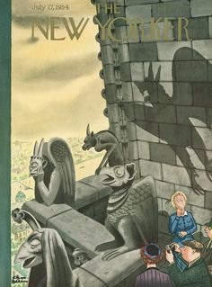 The New Yorker - Saturday, July 17, 1954 - Issue # 1535 - Vol. 30 - N° 22 - Cover by : Charles Addams