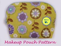 Cosmetic purse sewing pattern. Every woman needs a cute bag to store her makeup and beauty essentials. This is a very easy project.