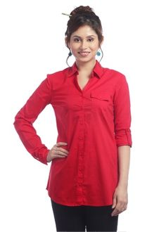 Trending Now Women's Red Shirt Trending Now, Red Shirt, Lady In Red, Tunic Tops, Shirts, Shopping, Clothes, Women, Fashion