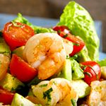 Shrimp on Tomato and Avocado Salad with Creamy Italian Dressing:  Low Carb Diet Program and Weight Loss Plan | Atkins