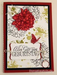 Stampin Up Karte Geburtstag A5 Blumen