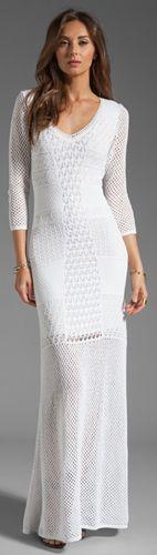 Catherine Malandrino Crochet Maxi Dress