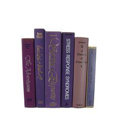 Purple  Decorative Books , Vintage Book Decor ,  Photo Prop , Bookshelf Decor  , Home Decor , Old Book Decor , Gift for Her