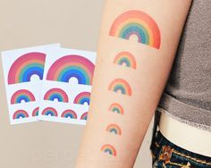 Uncommon Gifts and Rainbow Temporary Tattoos at Perpetual Kid. Our colorful Rainbow Tattoos are just like a real tattoo, but fake. Pinterest T Shirt, Tattly Tattoos, Mustache Tattoo, Rainbow Tattoos, Uncommon Gifts, Real Tattoo, Unique Gifts, Shirts, Original Gifts