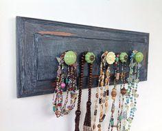 Necklace organizer  shabby chic decor  dark by YouMatterDesigns, $36.00
