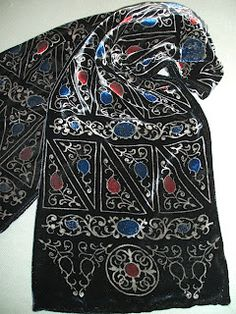 4bafea5522 Pietra Dura velvet discharge printed scarf by Beckford Silk