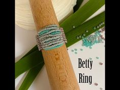 Betty Ring - YouTube Beaded Rings, Jewelry Rings, Jewellery, Unique Centerpieces, Ring Tutorial, Beaded Flowers, Beaded Embroidery, Beautiful Rings, Gifts For Friends