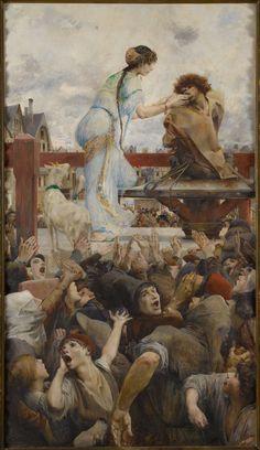 Luc-Olivier Merson (1846-1920), Une Larme pour une Goutte d'Eau, Quasimodo au Pilori (Notre-Dame de Paris, Victor Hugo) - 1903