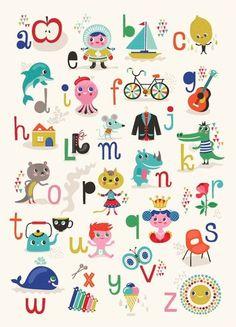 Leuk voor op de babykamer! Met het alfabet.