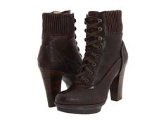 Frye Mimi Lace Dark Brown Antique Pull Up - Zappos.com
