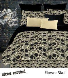 Health  Beauty Collection  - Veratex Flower Skulls Comforter Set FULL Black/Tan, $62.99 (http://www.healthbeautycollection.com/veratex-flower-skulls-comforter-set-full-black-tan/)