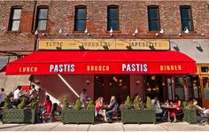 Pastis- Charming Keith McNally spot in the  meat packing district. I like it for brunch best.