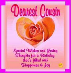 birthday cards for cousins free birthday greetings for a cousin