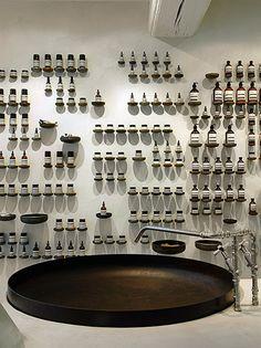 Aesop store by Ciguë, Le Marais, Paris Commercial Design, Commercial Interiors, Display Design, Store Design, Diy Deodorant, Aesop Store, Retail Architecture, Architecture Design, Cosmetic Shop