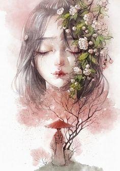 妖魔道玄幻美女手绘插画设计欣赏