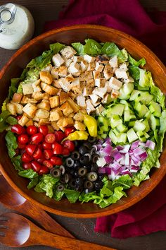 Grilled Chicken Chopped Salad with Italian Dressing - Cooking Classy - Recipes Italian Chopped Salad, Italian Salad, Italian Dressing, Chopped Salad Recipes, Salade Healthy, Cooking Recipes, Healthy Recipes, Chicken Salad Recipes, Salad With Grilled Chicken