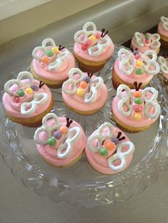 My version of the butterfly pretzel cupcake!  Did for daughters 2nd B- day!
