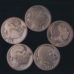 John Dorusa - Popeye and Friends Hobo Nickel, Coin Art, Buffalo, Classic Style, Weird, Coins, Carving, Animation, Cartoon
