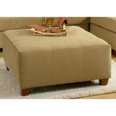 Have to have it. Chelsea Home Jefferson Ottoman - Bella Coffee - $419.99 @hayneedle