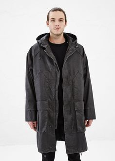Maison Martin Margiela Hooded Rain Jacket in Black