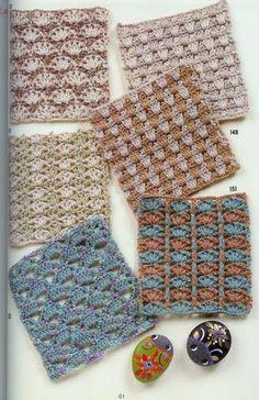 Crochet Stitch Patterns receitas de 1 agulha