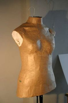 Instructable on how to make a dress form