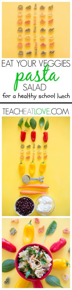 kid-friendly pasta recipe for school lunches and dinners at www.teacheatlove.com