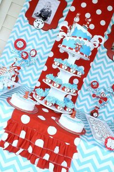 dr seuss thing 1 thing 2 party supplies | Thing One Thing Two Dr Seuss Twins 1st Birthday Party Planning Ideas